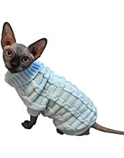 LUCKSTAR Cable Knit Turtleneck Sweater - Cats Sweater Pullover Knitted Clothes Pet Sweater for Small Dogs & Cats Kitten Kitty Chihuahua Teddy Knitwear Cold Weather Outfit (S)