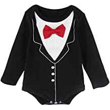 AJDesign Baby Boys' Gentleman Tuxedo Party Bodysuit