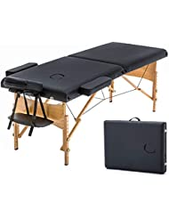 """Massage Table Portable Massage Bed Spa Bed 73"""" Long 28"""" Wide Hight Adjustable Massage Table 2 Folding Massage Bed Spa Bed Facial Cradle Salon Bed W/Carry Case"""