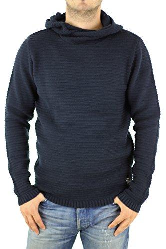 pull hiver Jack And Jones jjcotripple knit hood bleu