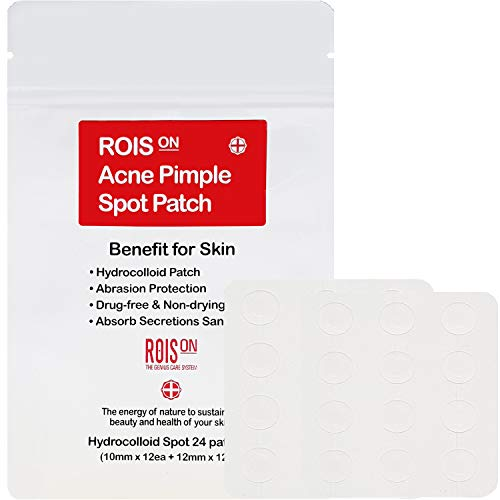 Rois On Hydrocolloid Acne Pimple Healing Spot Patch | FDA approved | 10mm & 12mm set