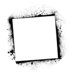 alfombrilla de ratón marco negro - ronda - 20cm