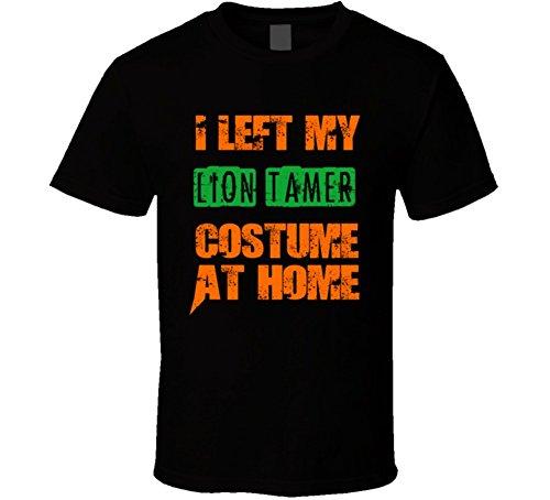Lion Tamer Costume Men (Left Lion Tamer Halloween Costume At Home Occupation T Shirt L Black)