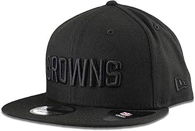New Era Cleveland Browns Hat NFL Black on Black 9FIFTY Snapback Adjustable Cap Adult One Size
