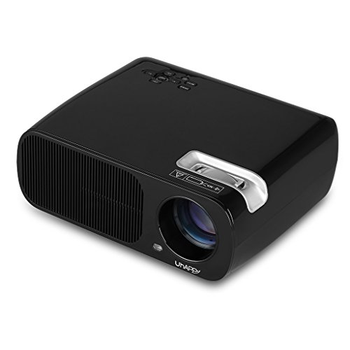 Uhappy 2600 lumens mini led projector 1080p supported for for Led projector ipad