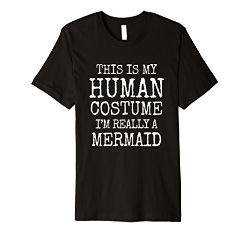 Male Mermaid Halloween Costumes - Mens Mermaid Halloween Costume Premium Shirt Men Women Girls Medium Black