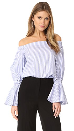 Alexis Women's Juniper Top, Blue Stripes, Small