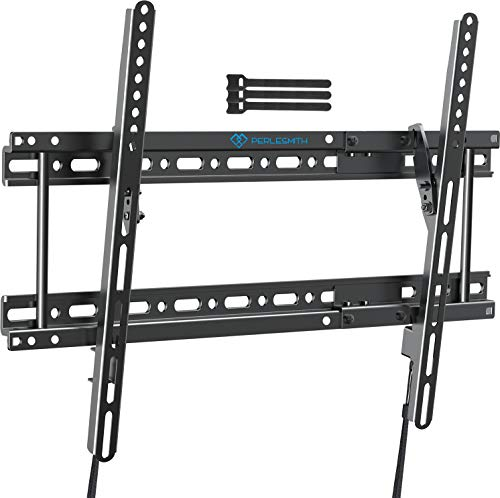 "Tilting TV Wall Mount Bracket Fits for 16"",18"",24"" Studs, Low Profile Tilt TV Mount for Most 37-82 Inch LED, LCD, OLED, 4K Flat Screen TVs with VESA up to 600x400mm 132lbs (PSLTK2)"