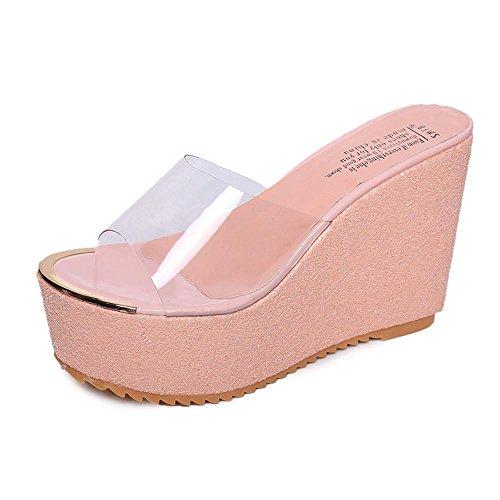 Ouneed ® Mujeres moda imitación ocio Flip Flops sandalias mocasines zapatos Rosa