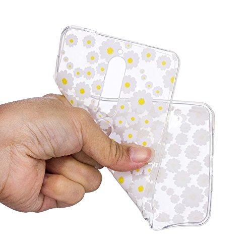 Funda para Nokia 6 2018 (Version 2018) , IJIA Transparente Margarita TPU Silicona Suave Cover Tapa Caso Parachoques Carcasa Cubierta para Nokia 6 2018