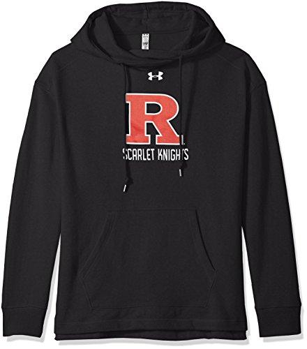 Sweatshirt Scarlet Pullover (Under Armour NCAA Rutgers Scarlet Knights Women's Pull-Over Fleece Hoodie, Medium, Black)
