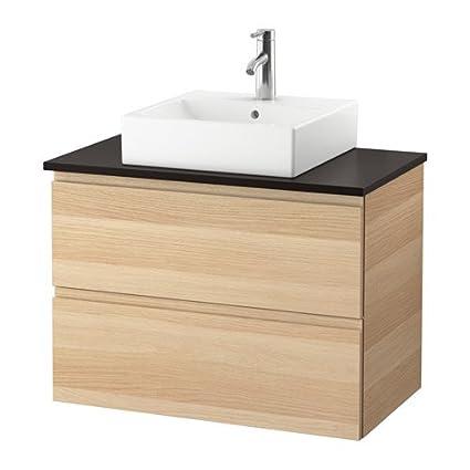 Amazon com: IKEA Vanity, countertop and 17 3/4