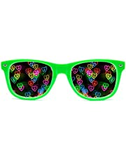 GloFX Heart Effect Diffraction Glasses - See Hearts! - Special Effect Rave EDM Festival Light Changing Eyewear…