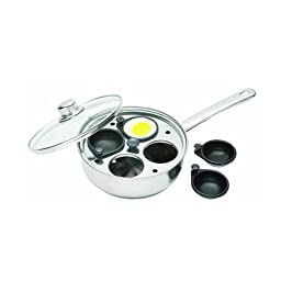 Clearview Kitchen Craft Stainless Steel 4 Cup Egg Poacher Set