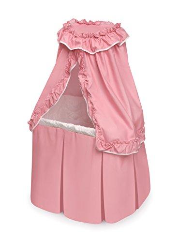 Badger Basket Kisses Rocking Doll Bassinet White, Pink