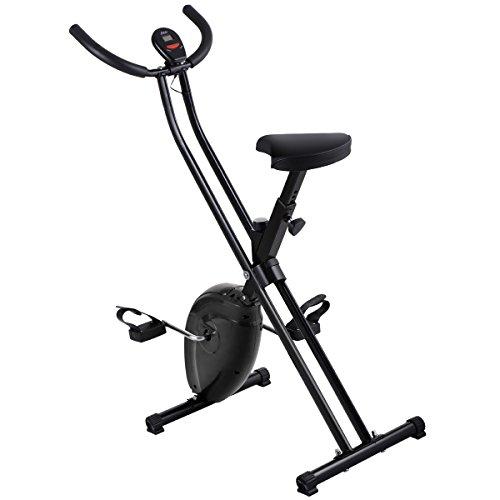 JAXPETY Folding Exercise Bike Magnetic Trainer Fitness Stationary Machine Black Home