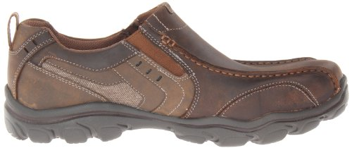Skechers Usa Mens Mocassino Relax Fit Mocassino Slip-on Marrone Scuro