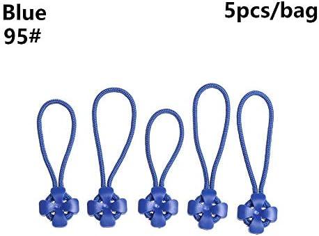 MINGTAI バックルトラベルバッグスーツケース布アクセサリーブロークン・5 / 10PCジッパープルプラーエンドフィットロープタグフィクサージップコードタブの交換クリップ (Color : Blue, Size : 10pcs)