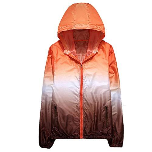 XOWRTE Men's Printing Sunscreen Pullover Hooded Jacket Coat