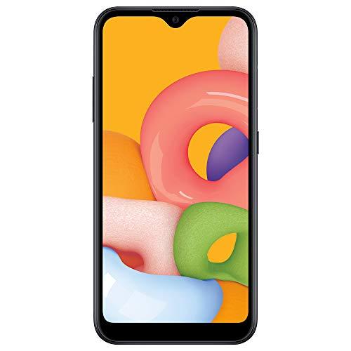 Samsung Net10 Galaxy A01 4G LTE Prepaid Smartphone – Black – 16GB – Sim Card Included -CDMA