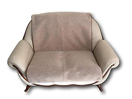 Alpen Lana para sillón de 2 plazas Lama/Alpaca 100 x 200 cm Manta sofá Manta sofá cojín Couch Schoner