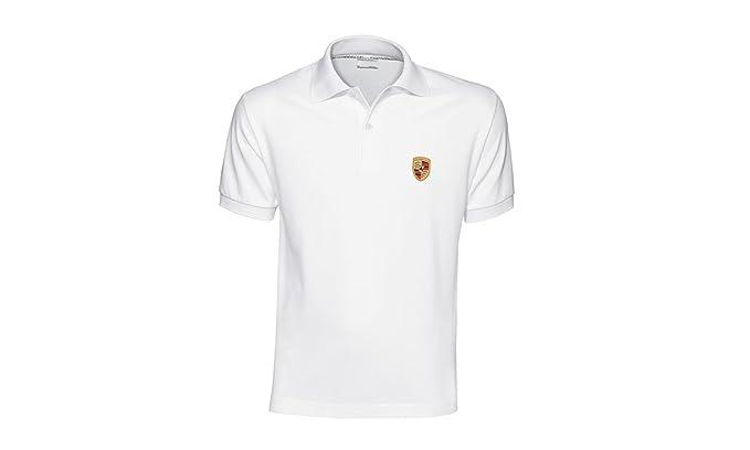 Auténtica Porsche Escudo Camisa de Polo para Hombre - Color Blanco ...