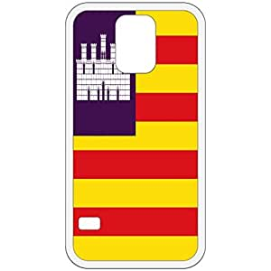 Balearic Islands Flag White Samsung Galaxy S5 Cell Phone Case - Cover