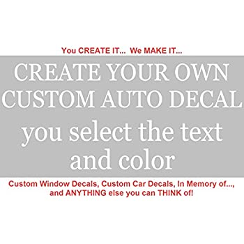 amazon com custom window decals create your own custom window
