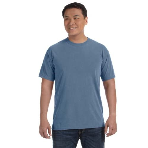 Hot Comfort Colors Ringspun Garment-Dyed T-Shirt. 1717 Blue Jean 4XL free shipping VZSPq0Sm