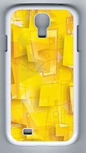 Samsung Galaxy S4 Case, Samsung Galaxy S4 Cases - Polygons Designer PC Case Cover For Samsung Galaxy S4 / SIV / I9500 - White