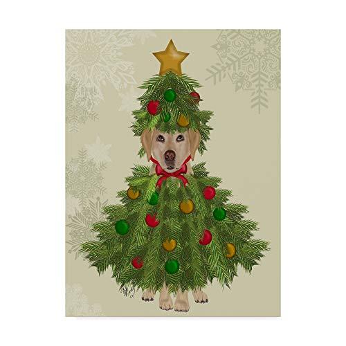 Yellow Labrador Costumes - Trademark Fine Art Yellow Labrador, Christmas