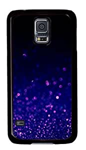 Purple Bubbles PC Case Cover for Samsung S5 and Samsung Galaxy S5 Black