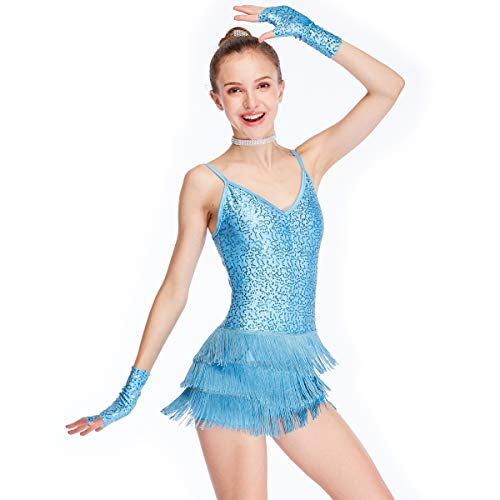 Dance Biketard Costumes - MiDee Dance Costume Biketard Camisole Sequins