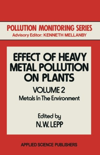 Effect of Heavy Metal Pollution on Plants: Metals in the Environment (Pollution Monitoring Series)