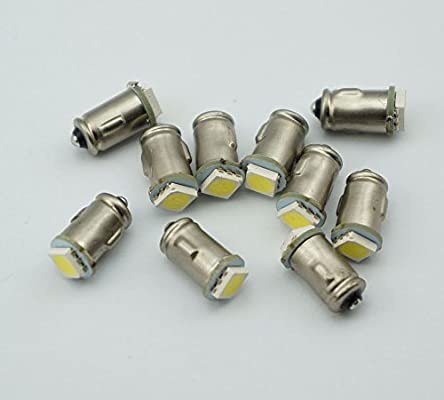 10 bombillas de luz blanca cálida de 6 V Ba7s LLB282, 1 LED para pizarra, alarma