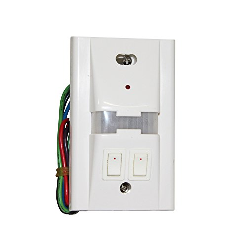 Hubbell Unenco SOM-1000-A-2 180 Degree PIR Passive Infrared Occupancy Sensor Wall Light Switch; White - Hubbell Light Switch