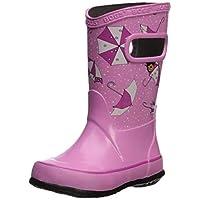 Bogs Kids Rubber Waterproof Rain Boot Boys Girls, Kaleidoscope Print/Black/Multi, 10 M US Toddler