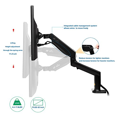 North Bayou Monitor Desk Mount Stand Full Motion Swivel