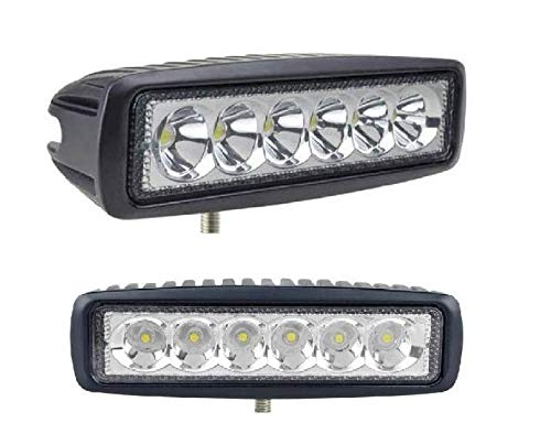 A2D Flood & Spot Beam 6-LED High Intensity Light Aux Fog Light Off Road Lights DRL WHITE Set Of 2 -Datsun Redi Go