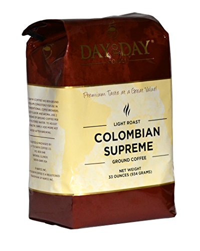 Day to Day Colombian Supreme Ground Coffee, 33-Ounce Bag (33200)