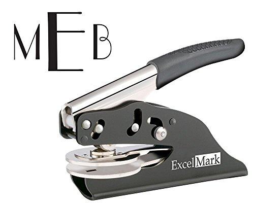 ExcelMark Hand Held Embosser - Monogram Gift Embosser - Styl