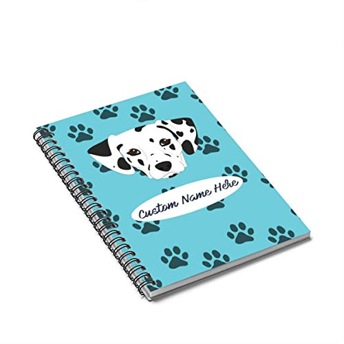 Personalized Dalmatian Spiral Notebook - Custom Dogs Dalmations Mom Dad Gift Dalmatians Kids Gifts (Personalized Dalmatian)