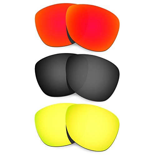 Hkuco Mens Replacement Lenses For Oakley Frogskins (Asia Fit) - 3 pair