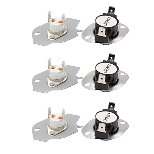 (ApplianPar 3 Pack 279769 Dryer Thermal Cut-Off Kit Fuse Thermostat Replacement for Whirpool & Kenmore Dryers 3389946, 3398671, 3977394, 695563, AP3094224, 3390291)