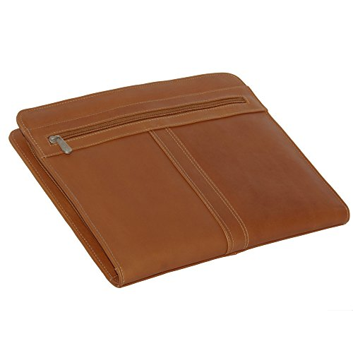 (Piel Leather Three-Way Envelope Padfolio, Saddle, One Size)