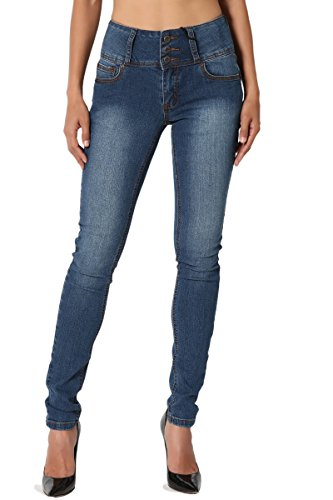 TheMogan Women's Hip up Butt Lifting High Waisted Denim Skinny Jeans Medium 5