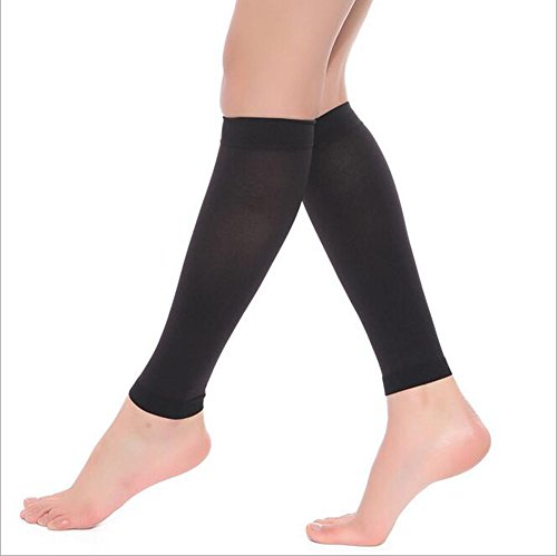 DCCDU Medical Calf Shin Splint Compression Sleeve(1 Pair,Women&Men) Firm Support 20-30mmHg for Running,Athletic Sports,Flight Travel-Leg Compression Socks for Varicose Veins,Lymphedema and So On