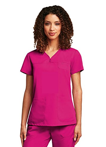 Barco Grey's Anatomy Women's 41340 3 Pocket Sweetheart Neckline Tonal Stitch Scrub Top- Cosmo- 3X-Large Sweetheart Pocket