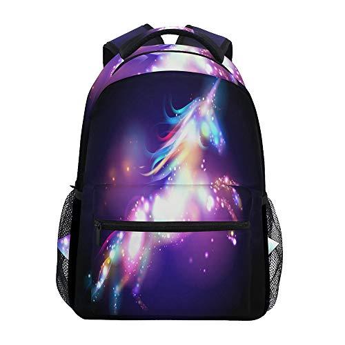 (Nander Backpack Travel Galaxy Dazzle Unicorn School Bookbags Shoulder Laptop Daypack College Bag for Womens Mens Boys Girls)