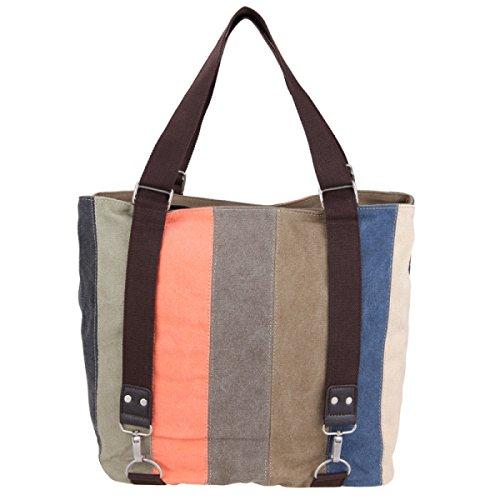 Frauen Jahrgang Leinwand Messenger Aktentasche Schulter Handtasche Schulranzen College Tasche ,B-OneSize